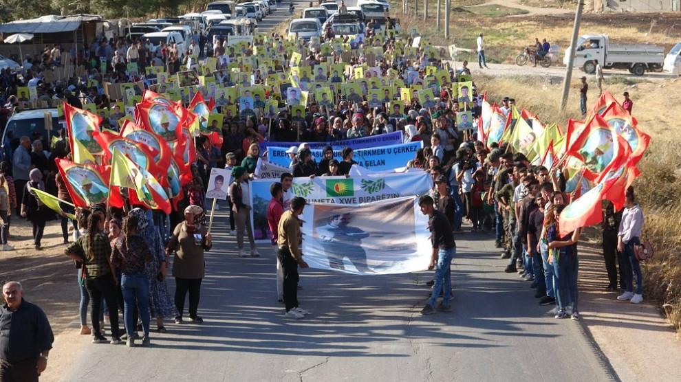 Photo of تظاهرة جماهيرية رافضة للاحتلال التركي بقرية تل سوسين
