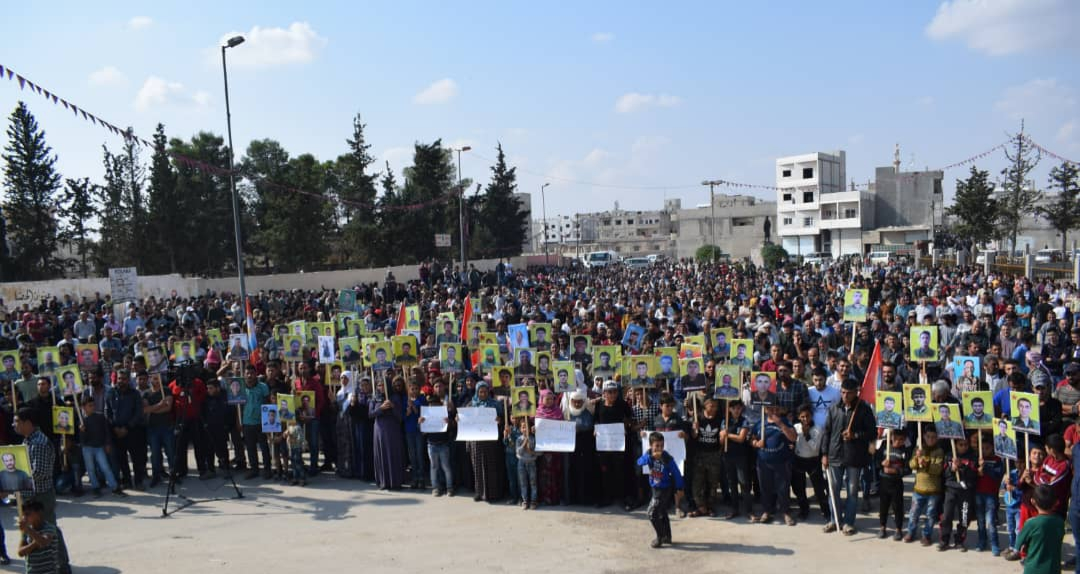 Photo of أهالي كوباني يعتصمون تنديداً بالغزو التركي لشمال شرق سوريا