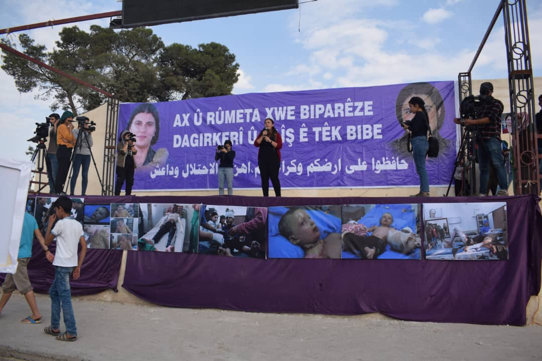 Photo of تنديداً بالغزو التركي، مؤتمر ستار ينظم مسيرة حاشدة في مقاطعة كوباني