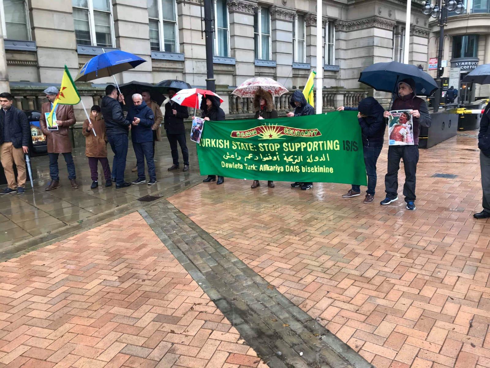 Photo of اعتصام الجالية الكردستانية في برمنغهام البريطانية