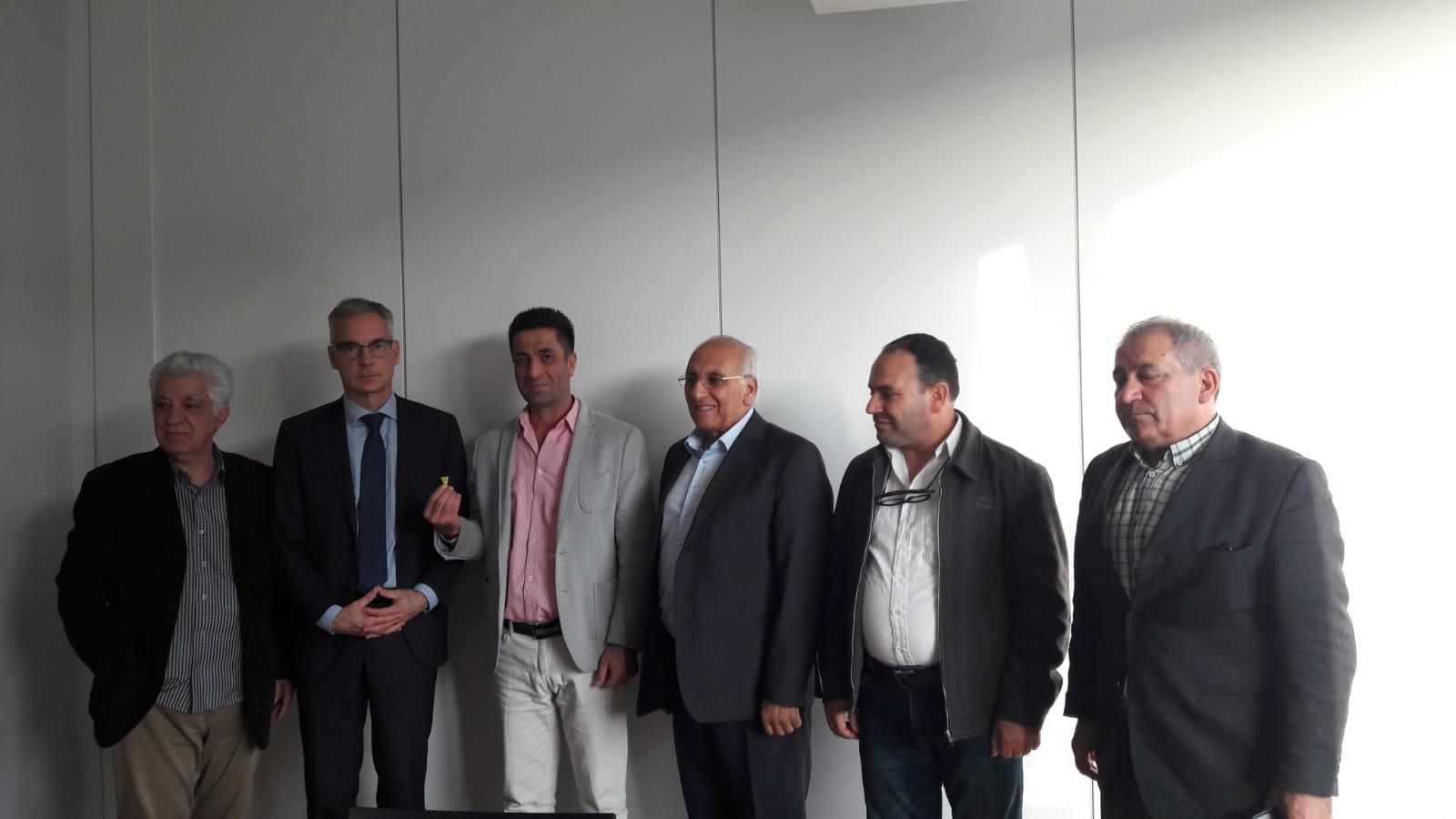 Photo of وفد مشترك من أحزاب كردستانية يزور مقر الاتحاد الأوروبي في برلين