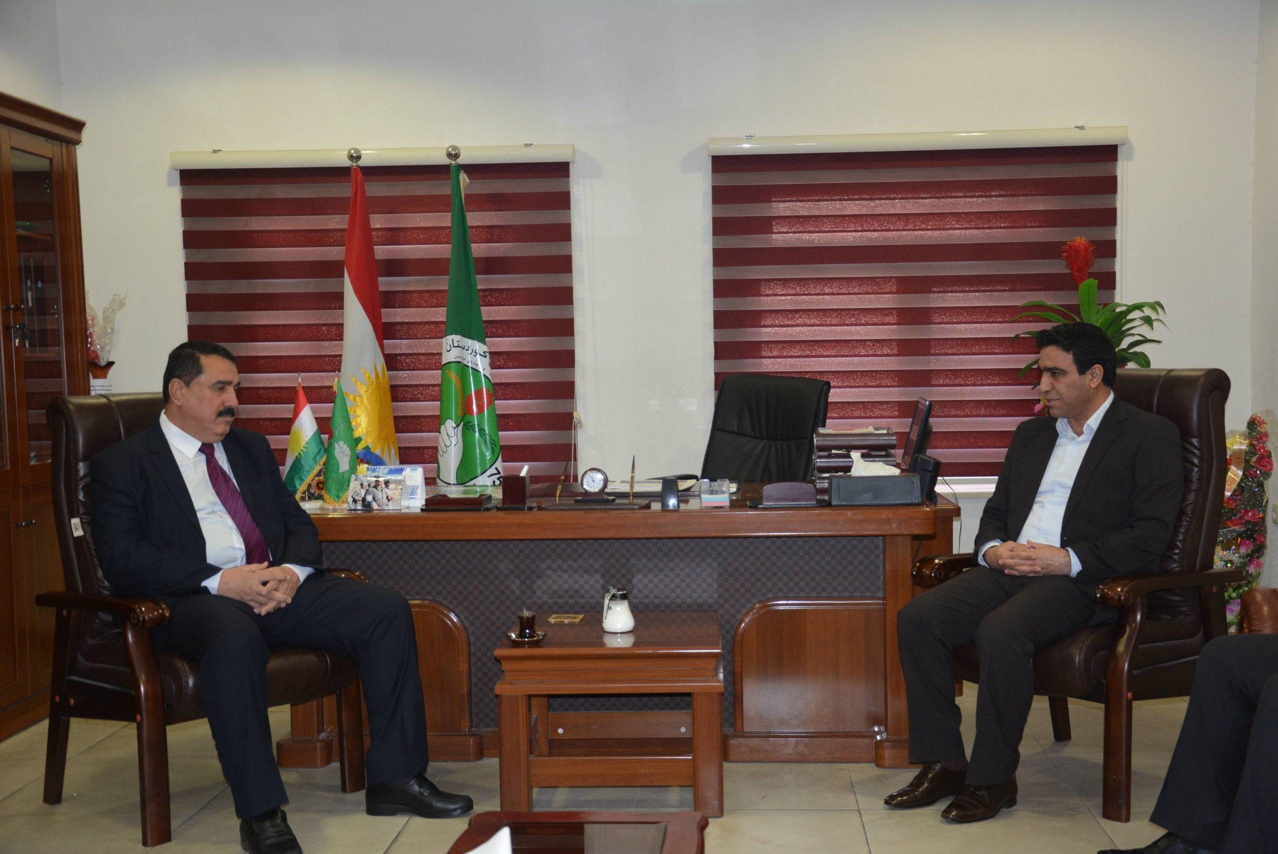 Photo of وفد من ممثلية حزبنا يزور مكتب العلاقات العامة للاتحاد الوطني الكردستاني بالسليمانية