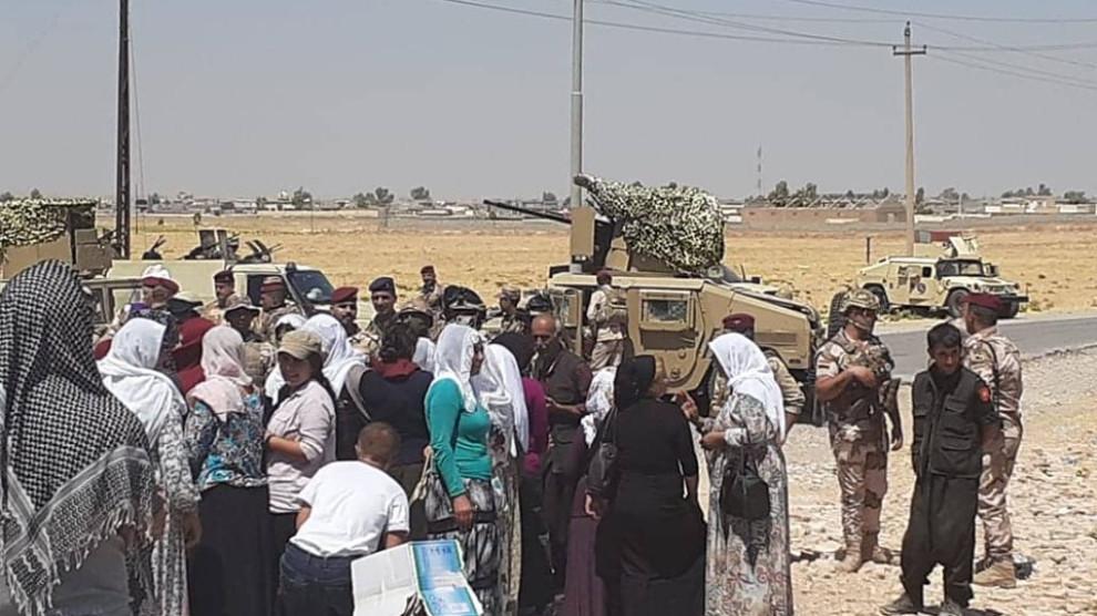 Photo of بعد القصف العراق تحتج والمخيم محاصر من قبل حكومة الإقليم