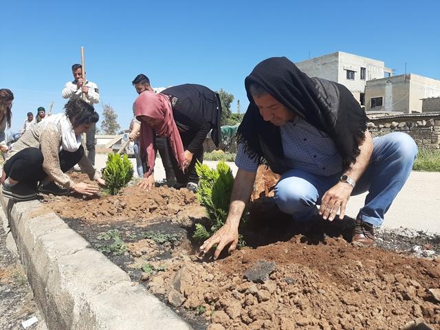 Photo of حملة (جمالنا من جمال مدينتنا) تلبس ناحية تربسبيه ثوباً أخضر