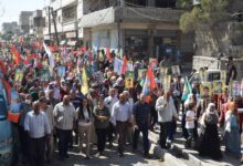 Photo of حزبنا ينظم مسيرة في مقاطعة كوباني