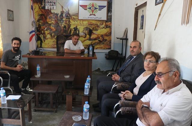 Photo of حزبنا يزور الحزب الآشوري الديمقراطي في تل تمر