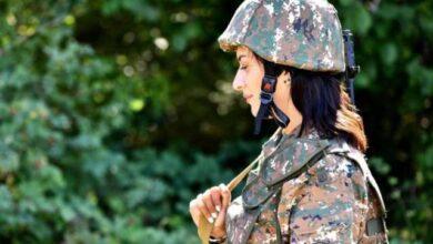 Photo of زوجة رئيس الوزراء الأرميني على خطوط التماس