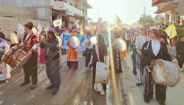 Photo of مسيرة في الحسكة تنديداً بممارسات الاحتلال التركي