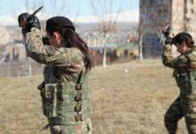 Photo of على خُطى مقاتلات YPJ المرأة الأرمينية تشارك بالدفاع عن قرا باغ