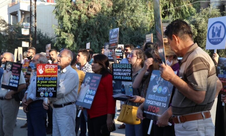 Photo of وقفة احتجاجية للمثقفين الكرد أمام مقر الأمم المتحدة تنديداً بتقاعس المجتمع الدولي