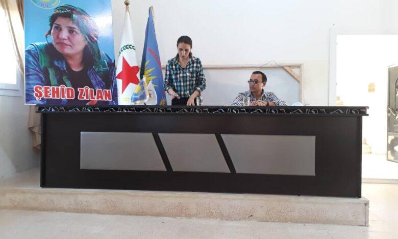 Photo of إحياء الذكرى السنوية الأولى لشهادة زيلان حسكة في كوباني