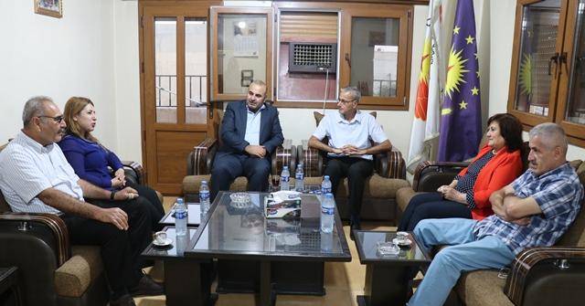 Photo of وفد من حزبنا يزور مكتب حزب الاتحاد السرياني