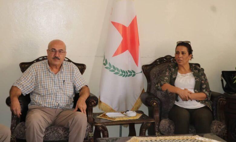 Photo of محمد حاج مصطفى يزور مكتب حزبنا في حلب