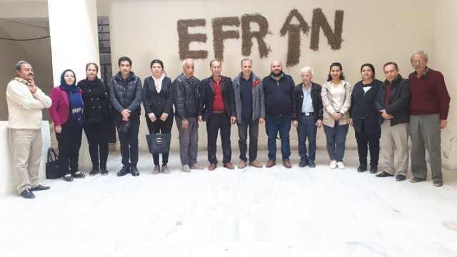 Photo of وفد من حزبنا يزور مركز جميل هورو للثقافة والفن في حلب