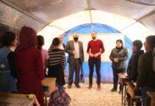Photo of حزب الاتحاد الديمقراطي PYD في زيارة لمخيم واشو كآني