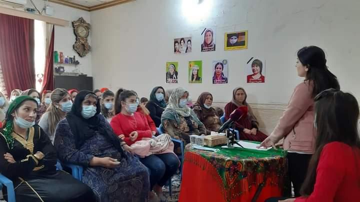 Photo of ندوة لجالية روج أفا في جنوب كردستان بمناسبة اليوم العالمي لمناهضة العنف ضد المرأة