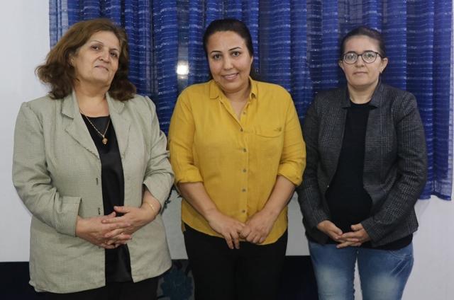 Photo of وفد من مجلس المرأة يلتقي بالشاعرة مريم تمر في قامشلو