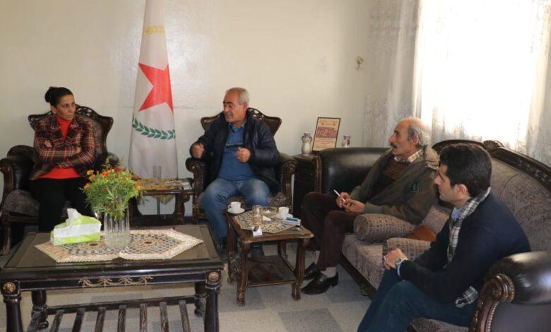 Photo of وفد من حزب الارادة الشعبية في زيارة لمكتب PYD في حلب