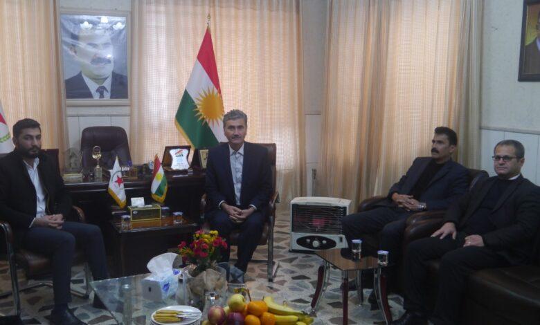 Photo of ممثلية حزب الاتحاد الديمقراطيPYD في إقليم كردستان تستقبل وفد من حزب زحمت كيشاني كردستان