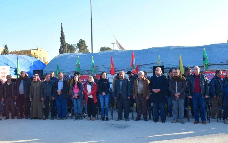 Photo of مشاركة PYD في الاعتصام الجماهيري نصرة لحرية القائد آبو في كوباني