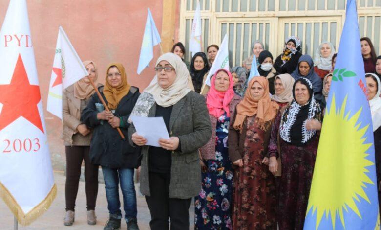 Photo of مجلس المرأة العام في PYD يستذكر الشهيدات الثلاث ساكينة جانسز ورفيقتيها