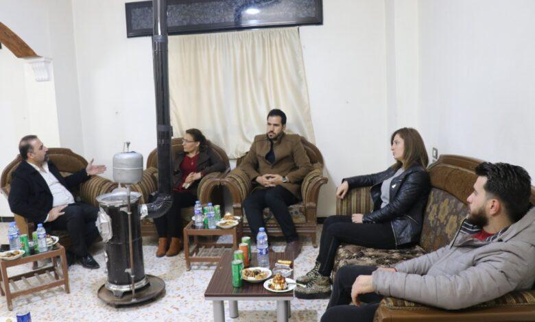 Photo of وفد من حزبنا يزور منظمة P.D.C في قامشلو
