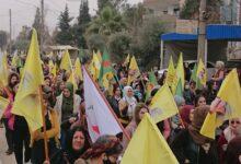 Photo of الآلاف من أهالي قامشلو يتظاهرون تنديداً بهجمات الاحتلال التركي