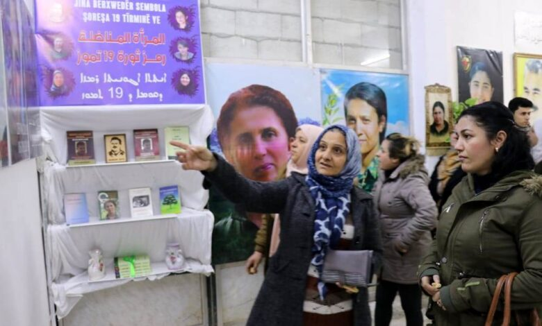 Photo of مجلس المرأة في الـ PYD يفتتح معرضاً لصور الشهيدات بحلب