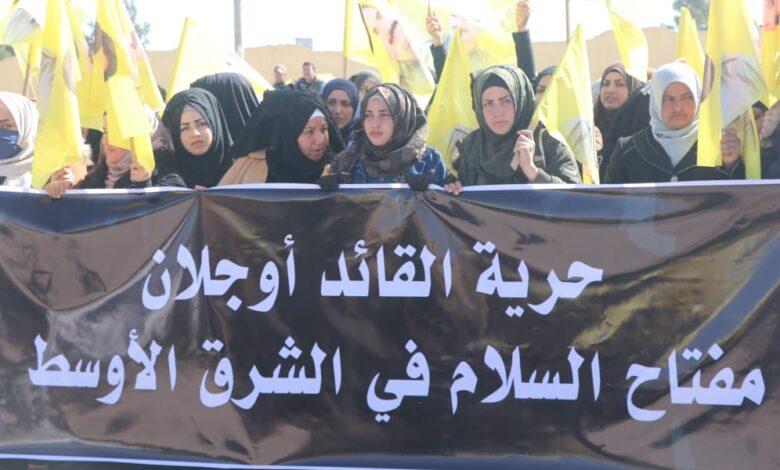 "Photo of أبناء نواحي جنوب الحسكة يستنكرون مؤامرة ""15 شباط 1999"""