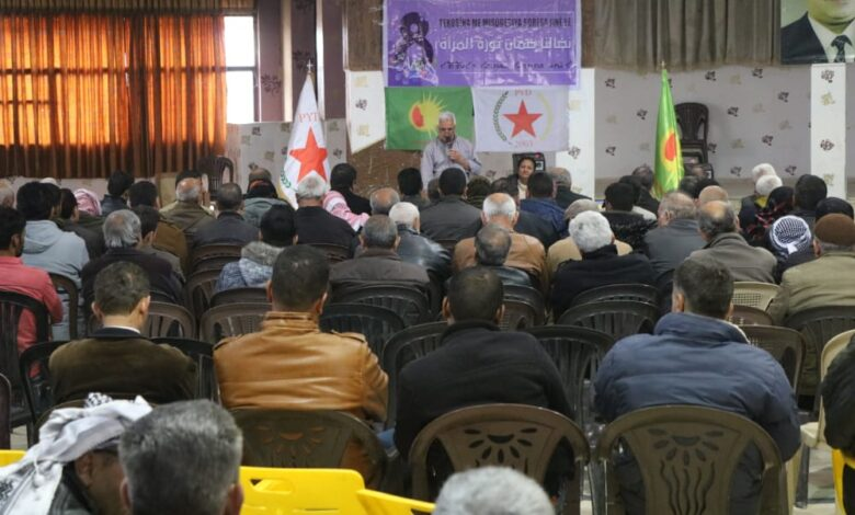 Photo of مجلس المرأة في الـ PYD يعقد سلسلة من المحاضرات في إقليم الجزيرة وحلب