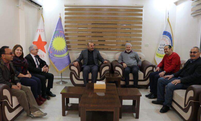 Photo of زيارة بعض ممثلي الادارة الذاتية لشمال وشرق سوريا في أوروبا لمكتب PYD في قامشلو
