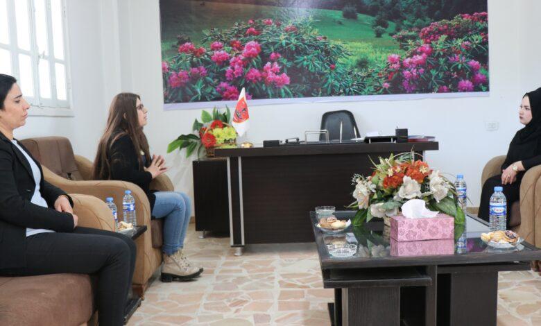 Photo of وفد من مجلس المرأة في الـ PYD يزور مكتب حزب المحافظين الديمقراطي