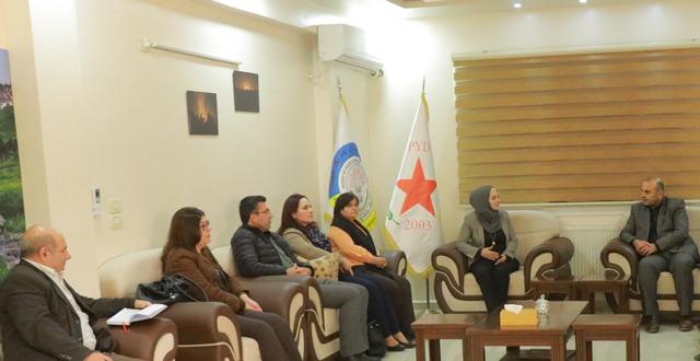 Photo of حزبنا يستقبل وفداً من الإدارة الذاتية الديمقراطية لإقليم الجزيرة