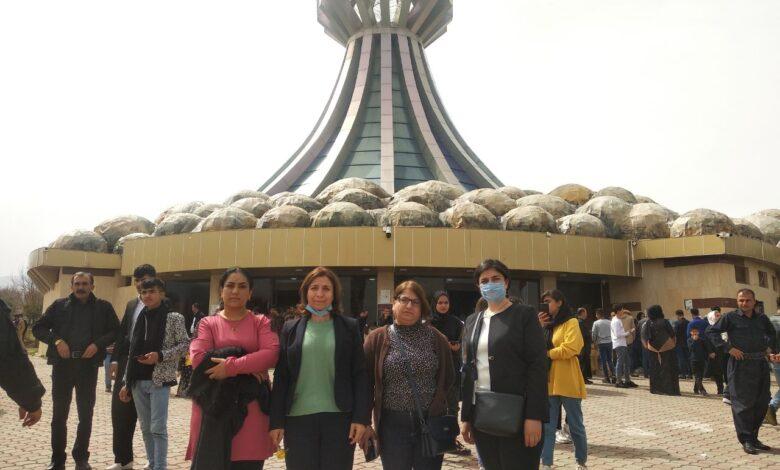 Photo of وفد من ممثليات روج أفا يشارك في مراسم استذكار شهداء حلبجة