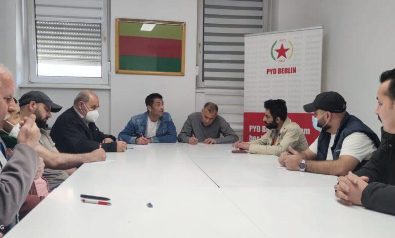 Photo of إدارة PYD في برلين تعقد اجتماعها الدوري