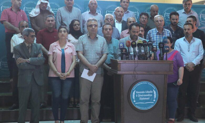 Photo of قوى سياسية في شمال وشرق سوريا تدين هجمات الاحتلال التركي