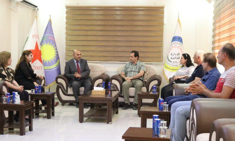 """Photo of في أول زيارة له """"حزب سورايا الديمقراطي"""" يؤكد على أهمية النظام التشاركي الديمقراطي"""