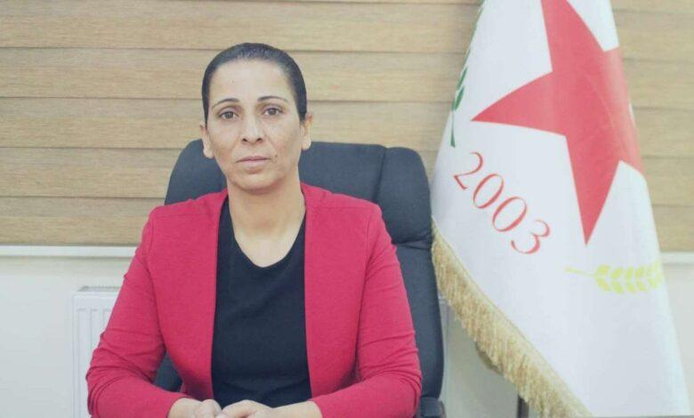 Photo of عائشة حسو تدعو PDK لإطلاق سراح عضوي الحزب وممثل الإدارة الذاتية
