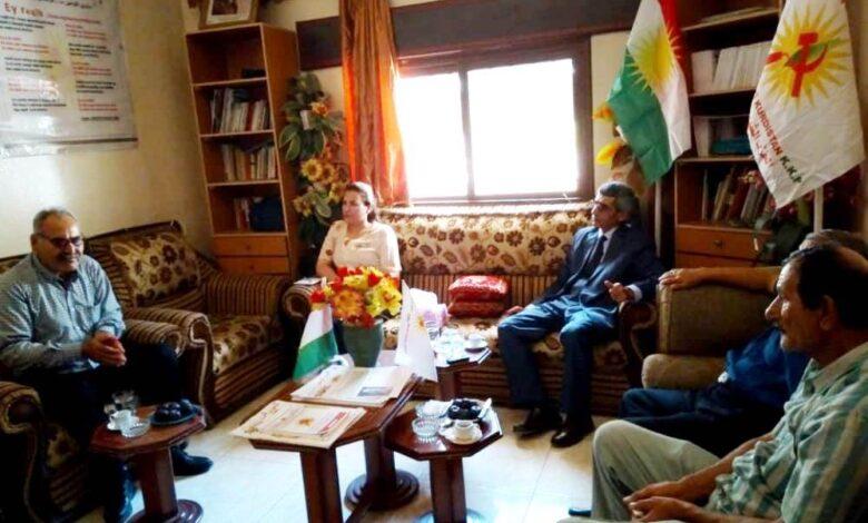 Photo of وفد من حزبنا يزور مكتب حزب الشيوعي الكُردستاني