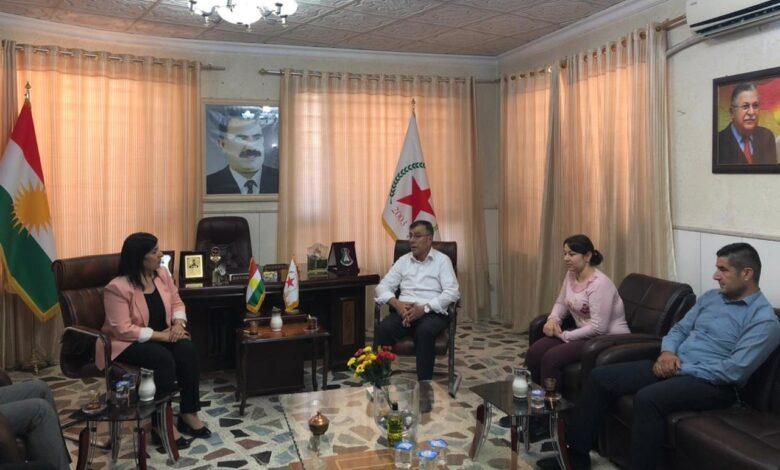 Photo of ممثلية حزبنا في إقليم كردستان تستقبل وفد من KNK
