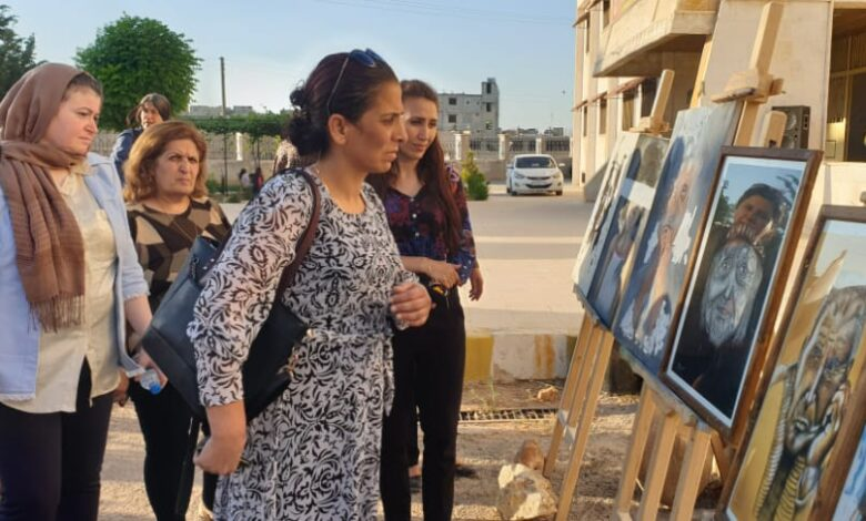 Photo of حزبنا يشارك في فعاليات معرض لفن الرسم بكوباني
