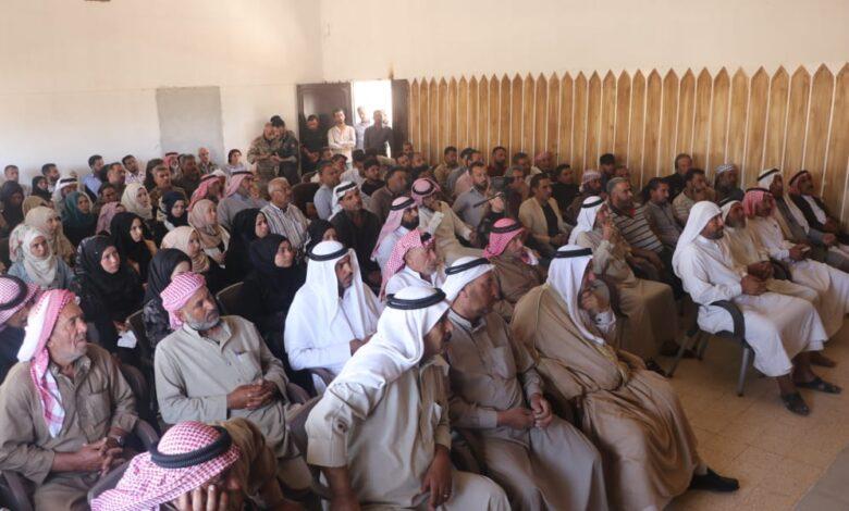 Photo of اجتماع موسع لوجهاء العشائر في ناحية الشدادي