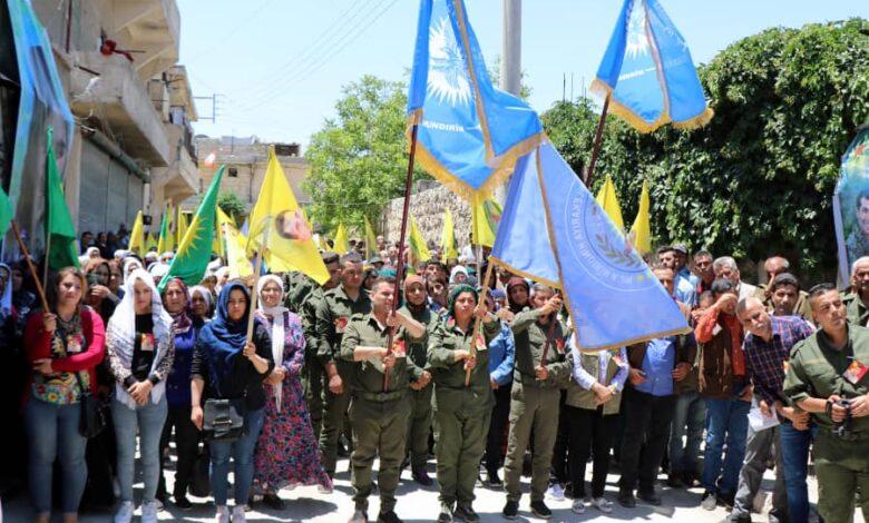 "Photo of حزبنا يشارك في مراسيم الشهيد ""سربست زاغروس"" بحلب"