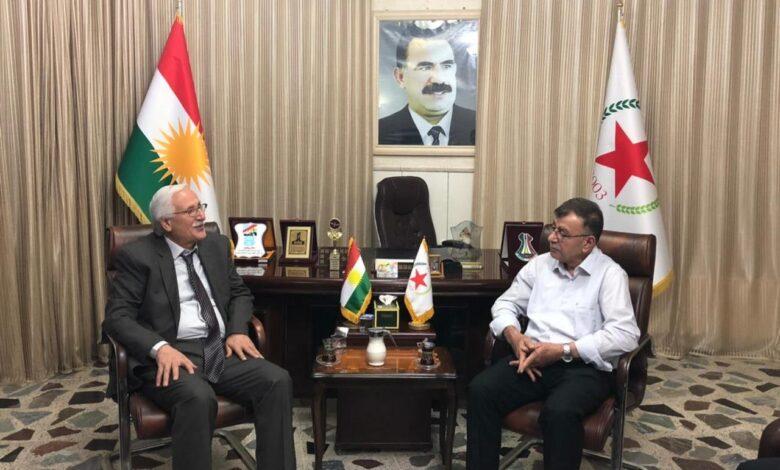 Photo of ممثلية حزبنا في إقليم كردستان تستقبل وفد من حزب الوحدة الديمقراطي