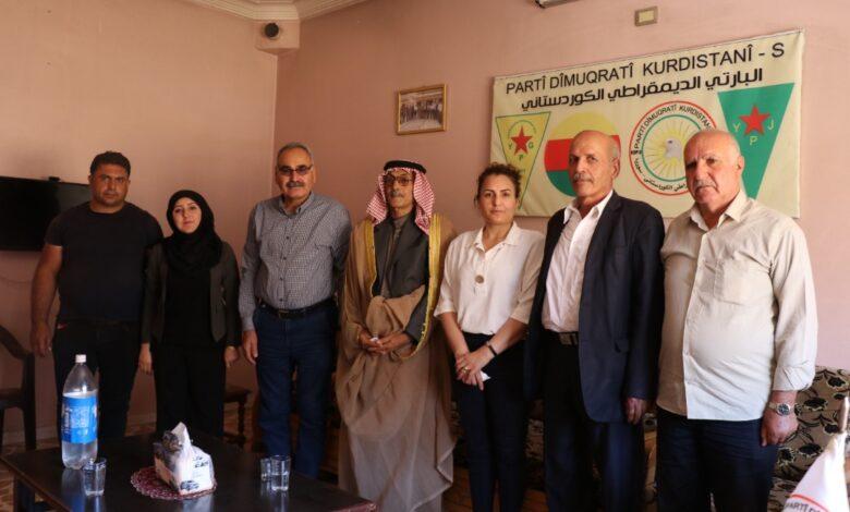 Photo of وفد من حزبنا يزور مكتب حزب البارتي الديمقراطي الكردستاني
