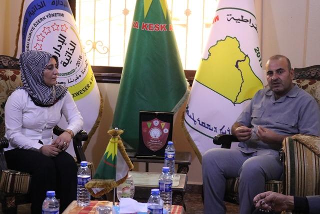 Photo of وفد من حزبنا يزور مكتب حزب الخضر الديمقراطي