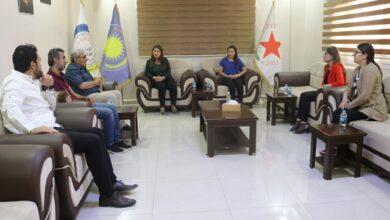 Photo of وفد من هيئة الثقافة يزور مركز حزبنا في قامشلو