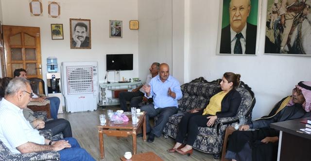 Photo of وفد من حزبنا يزور مكتب حزب الجمهوري الكردستاني في قامشلو