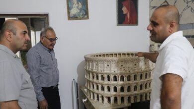Photo of وفد من حزبنا يزور ورشة الفنان التشكيلي ريشان يوسف في عامودا