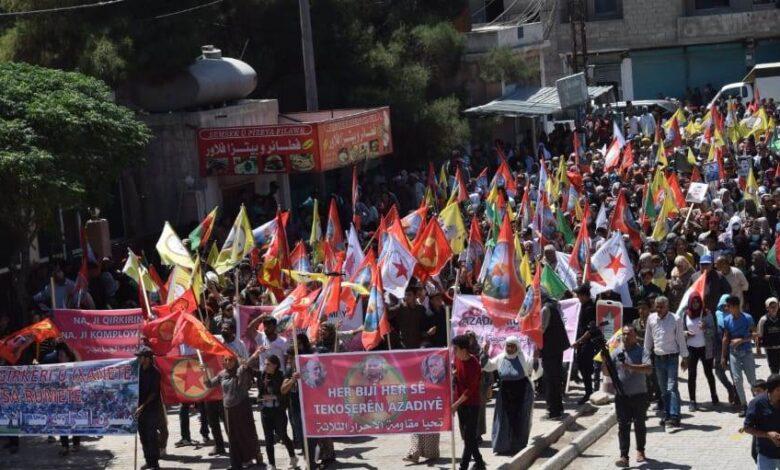Photo of مظاهرات حاشدة في كوباني تنديداً بهجمات الاحتلال التركي